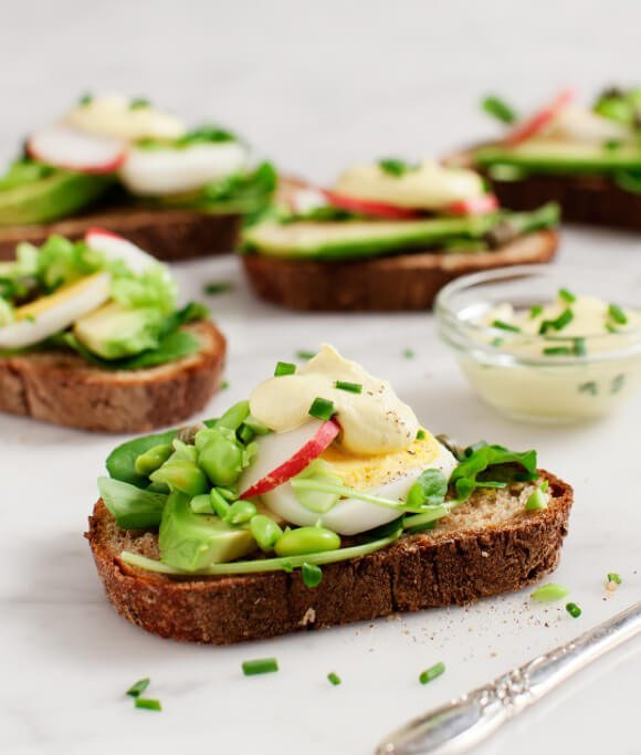 Breakfast for Dinner Ideas - Avocado Almondaise Tartines via Love and Lemons | https://www.roseclearfield.com