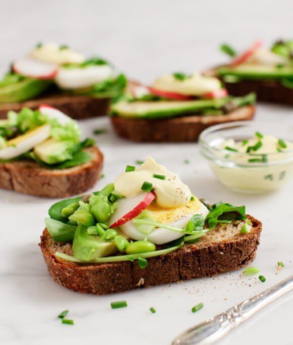 Breakfast for Dinner Ideas - Avocado Almondaise Tartines via Love and Lemons | https://www.roseclearfield.com
