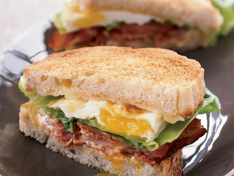 Breakfast for Dinner Ideas - BLT Fried Egg and Cheese Sandwich via Food and Wine | https://www.roseclearfield.com