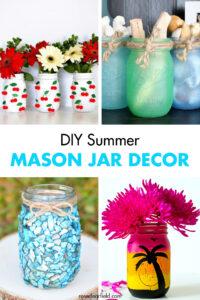 DIY Summer Mason Jar Decor