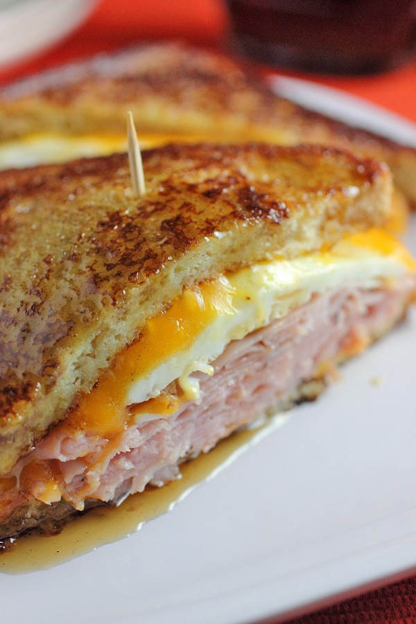 Breakfast for Dinner Ideas - French Toast Grilled Cheese Sandwich via Brown Sugar | https://www.roseclearfield.com