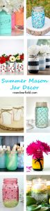 Summer Mason Jar Decor | https://www.roseclearfield.com