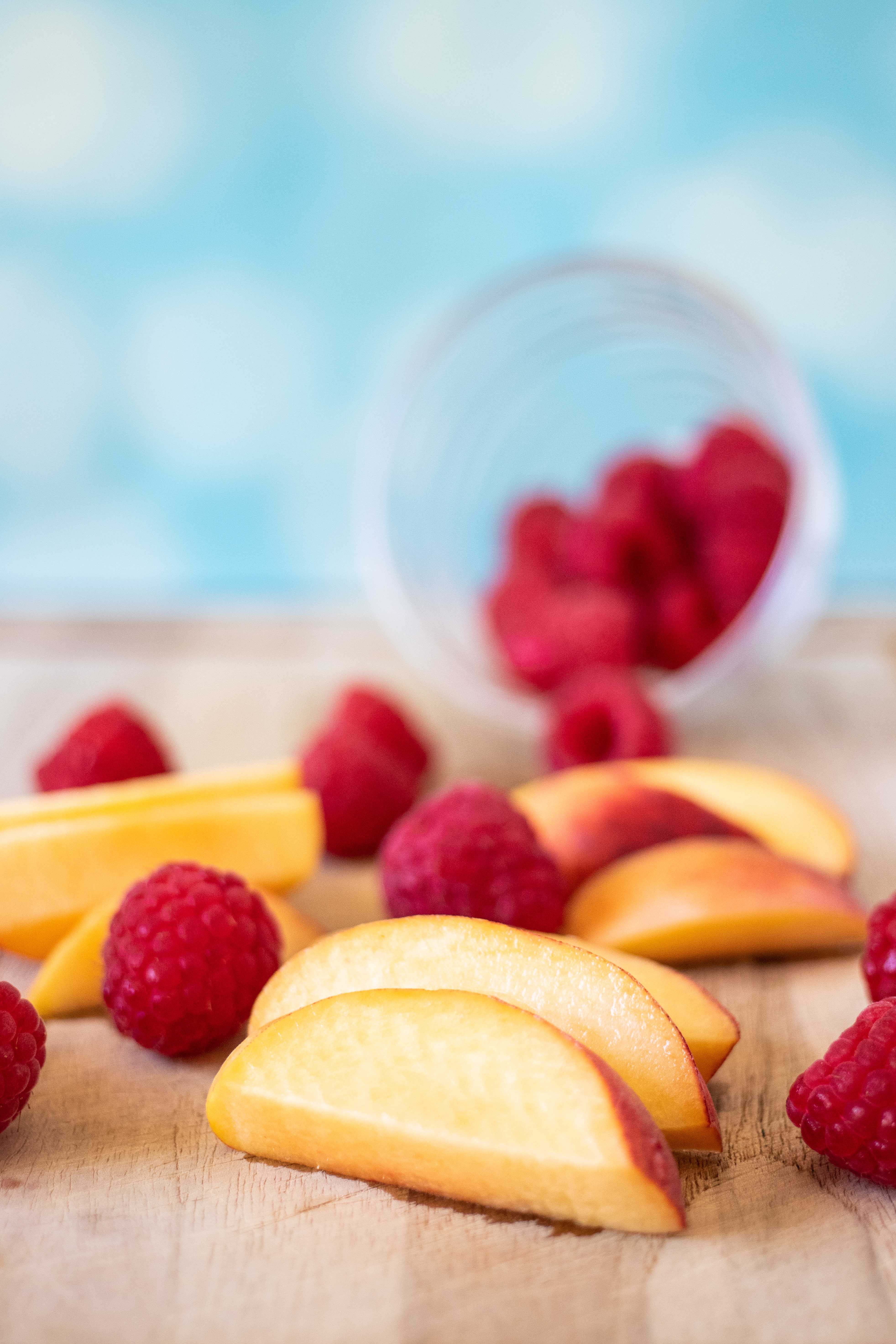 Raspberry Peach Coconut Smoothie | https://www.roseclearfield.com
