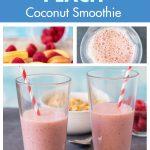 Raspberry Peach Coconut Smoothie