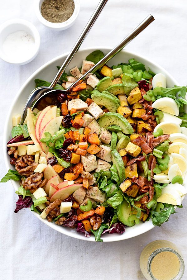 Back to School Healthy Lunches for Adults - Autumn Cobb-Salad via foodiecrush | https://www.roseclearfield.com