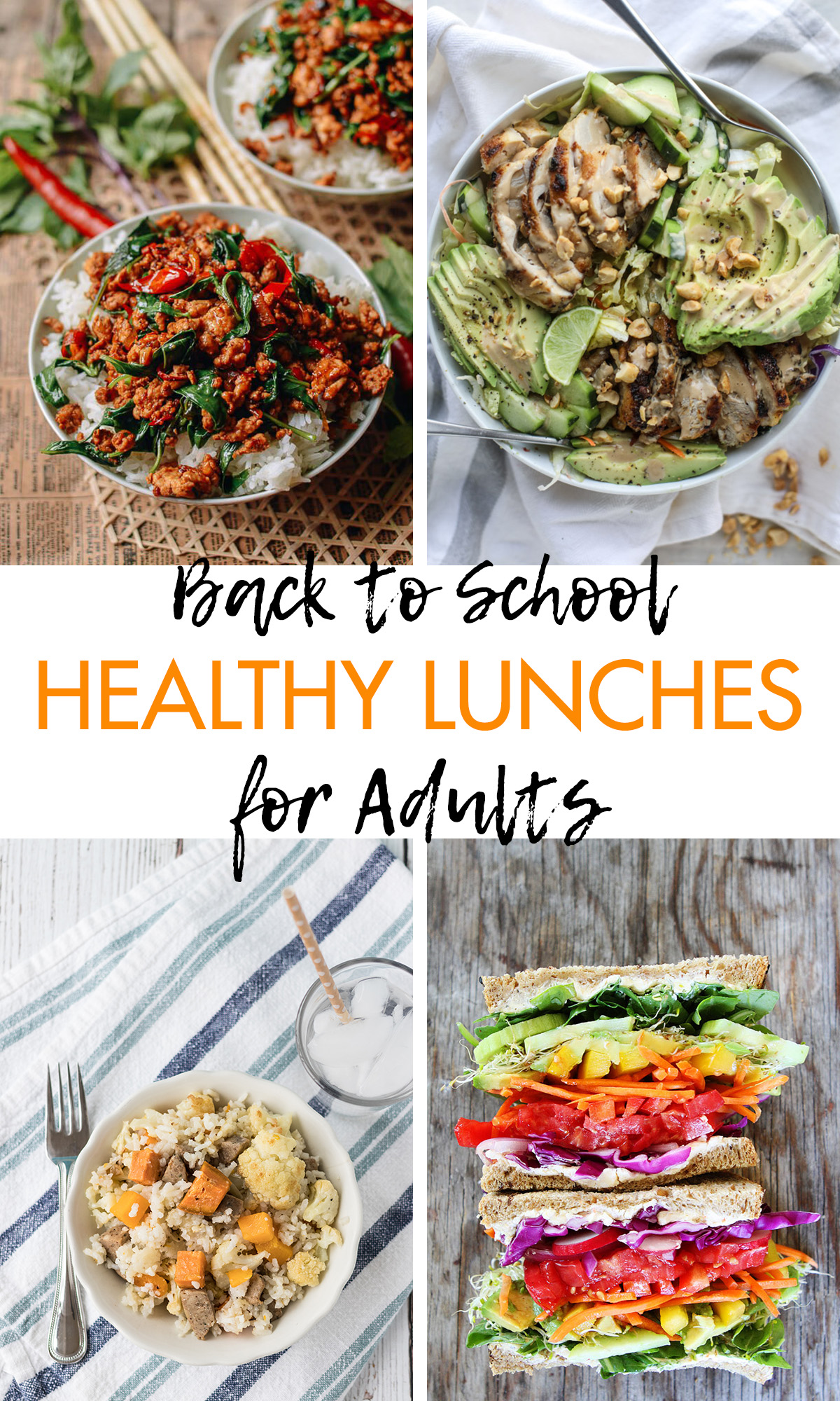 Back to School Healthy Lunches for Adults