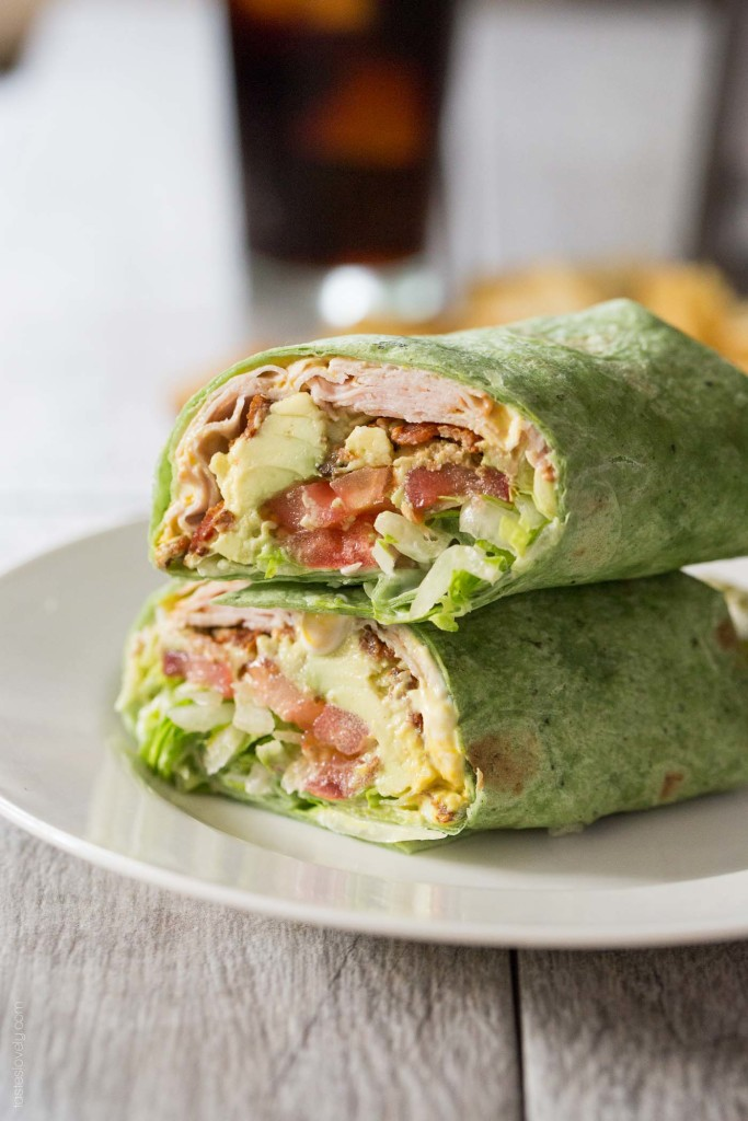 Back to School Healthy Lunches for Adults - California Turkey Club Wrap via Tastes Lovely   https://www.roseclearfield.com