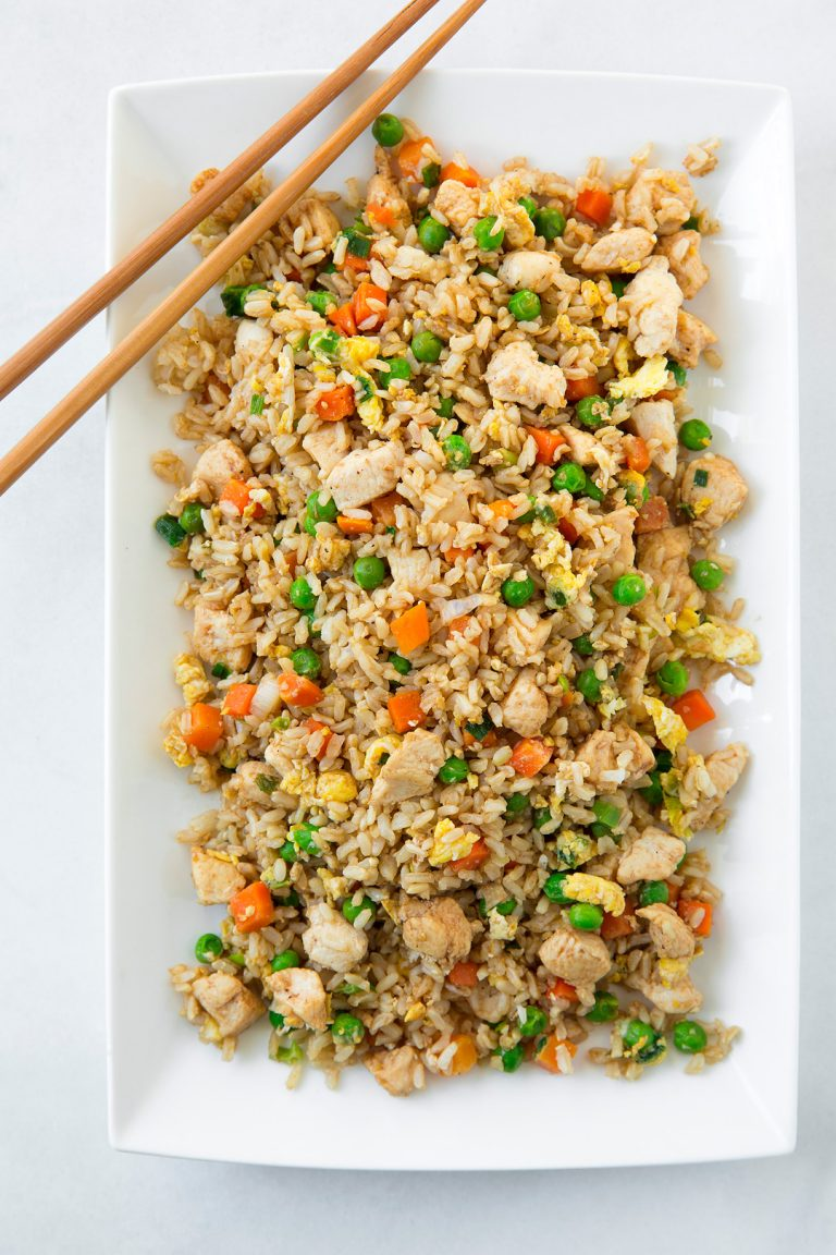 Back to School Healthy Lunches for Adults - Chicken Fried Rice via Cooking Classy   https://www.roseclearfield.com