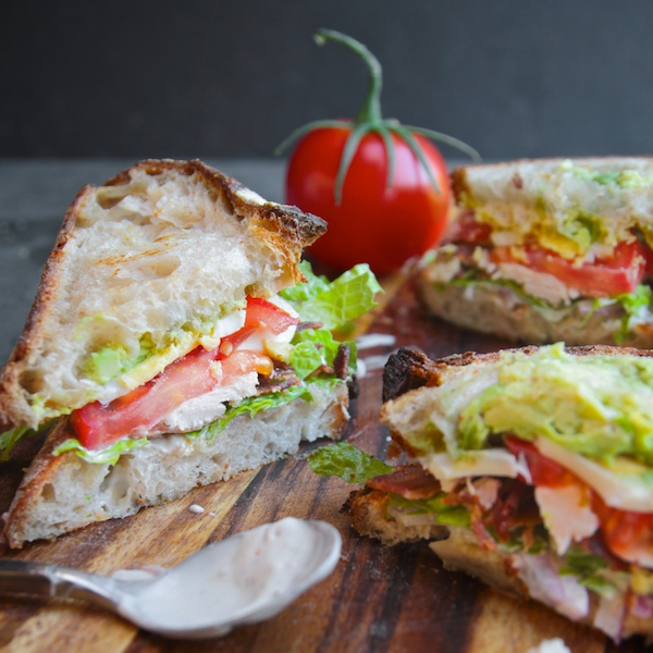 Back to School Healthy Lunches for Adults - Cobb Salad Sandwich via Shutterbean | https://www.roseclearfield.com