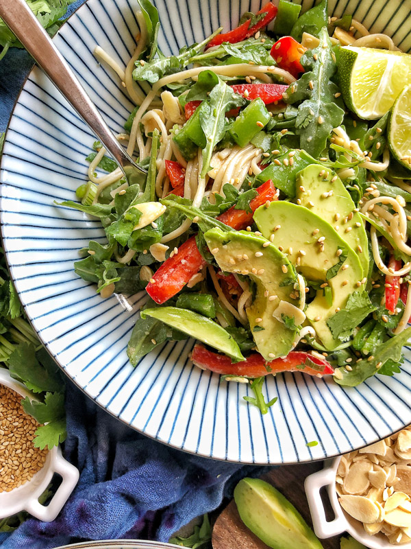 Back to School Healthy Lunches for Adults - Cold Soba Noodle Salad via Shutterbean | https://www.roseclearfield.com