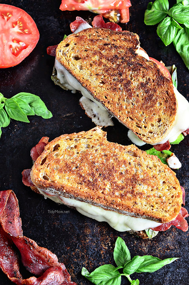 Back to School Healthy Lunches for Adults - Turkey Bacon and Avocado Grilled Cheese via Tidy Mom | https://www.roseclearfield.com