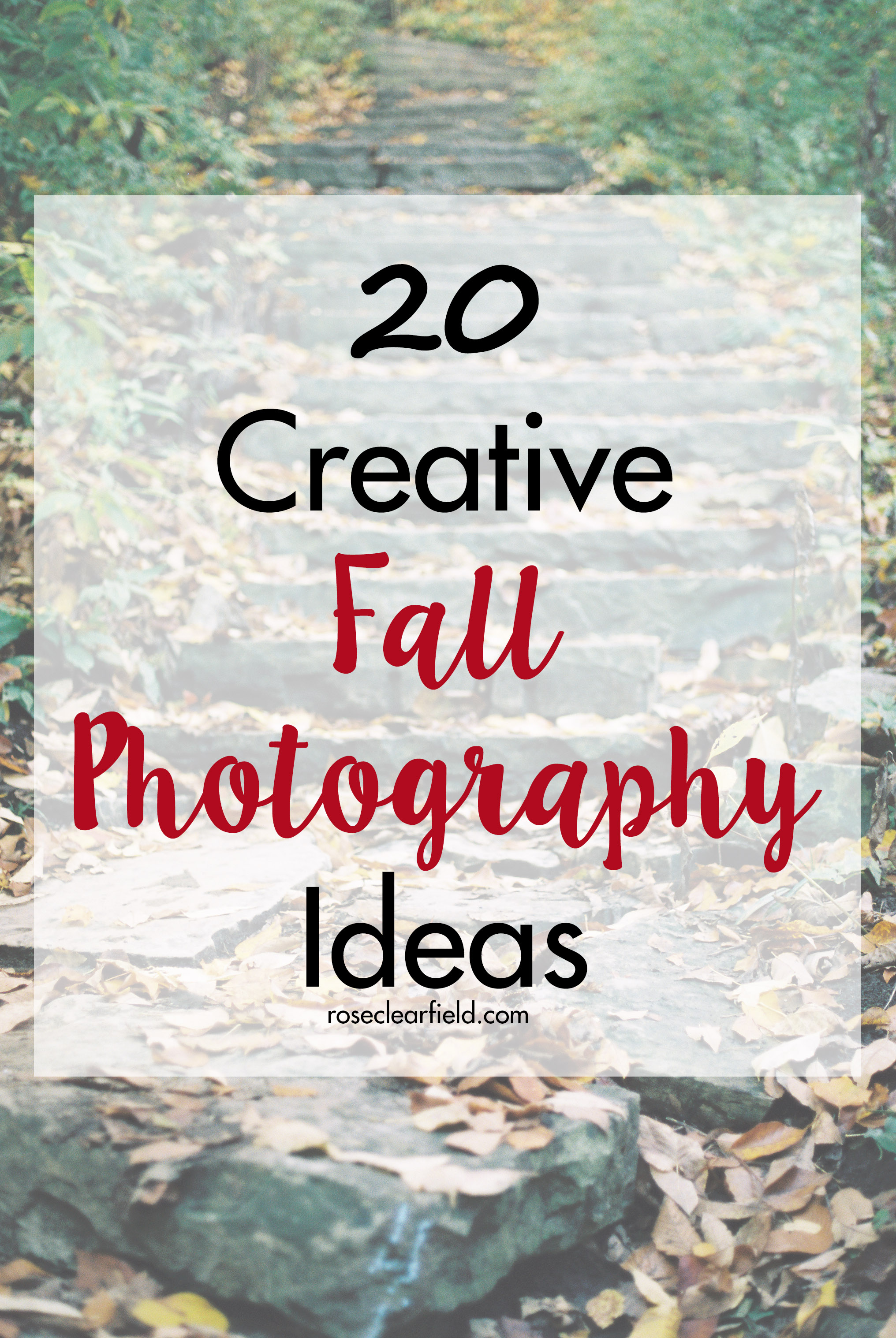 20 Creative Fall Photography Ideas | https://www.roseclearfield.com