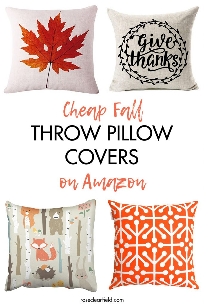 Cheap Fall Throw Pillow Covers on Amazon