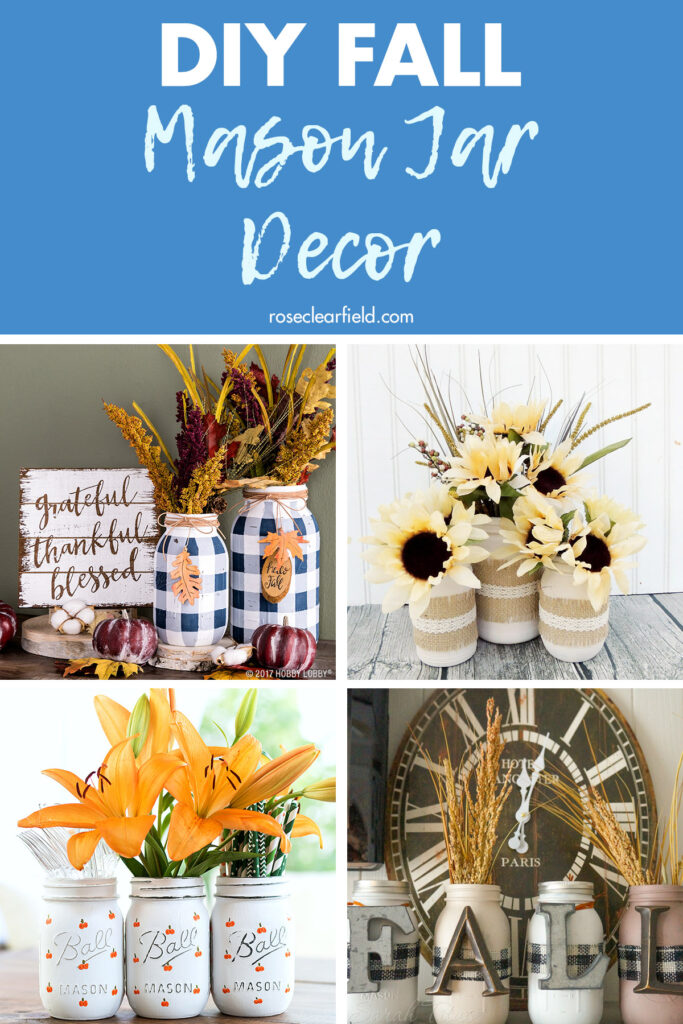 DIY Fall Mason Jar Decor