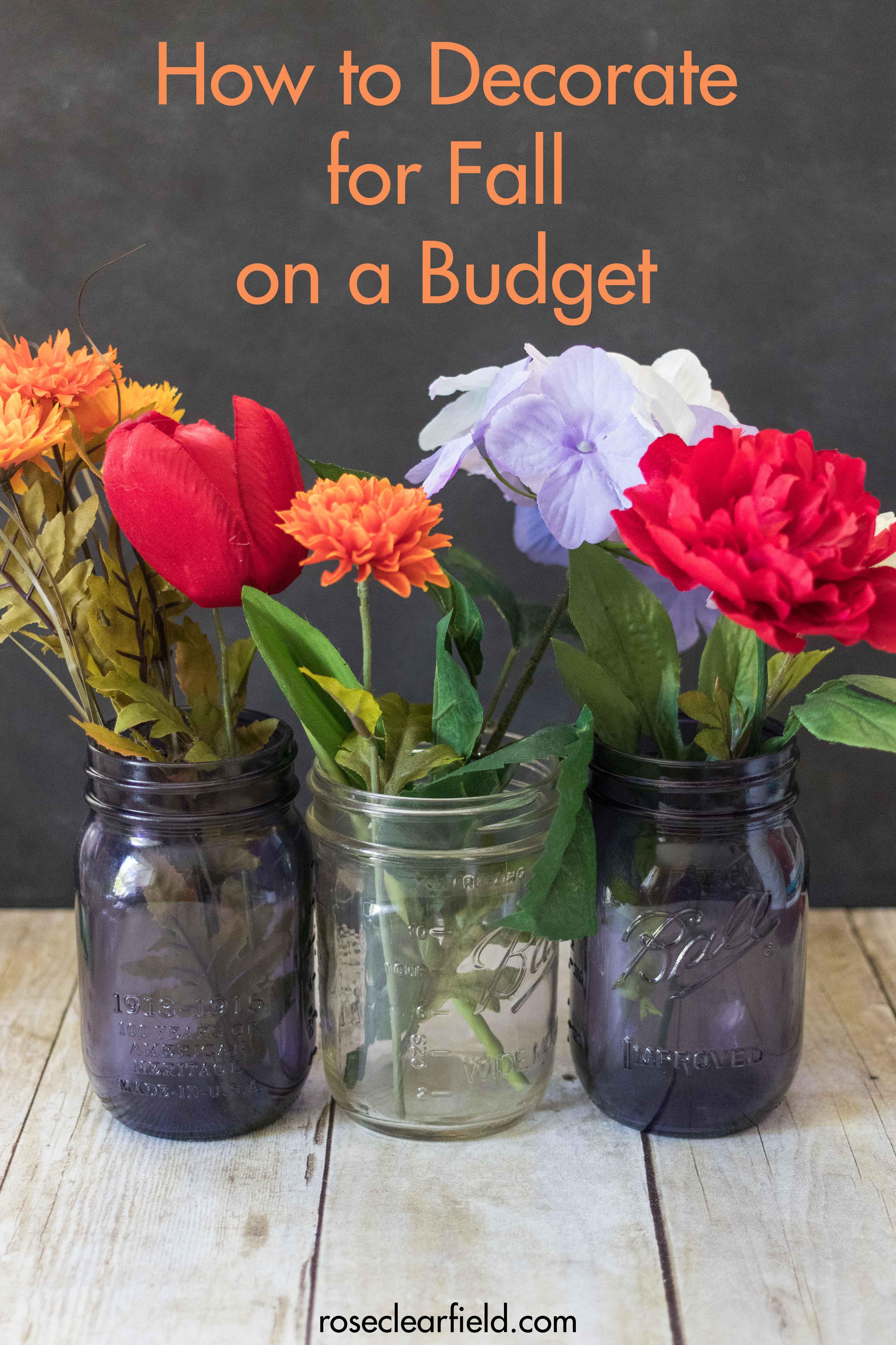 Fall Decor on a Budget