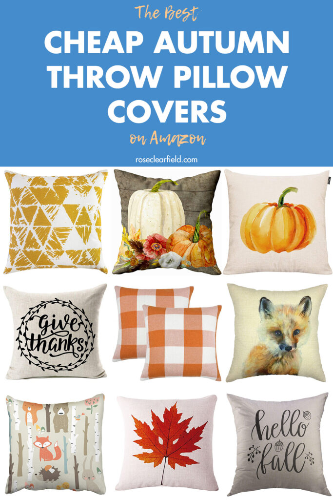 The Best Cheap Autumn Throw Pillow Covers on Amazon