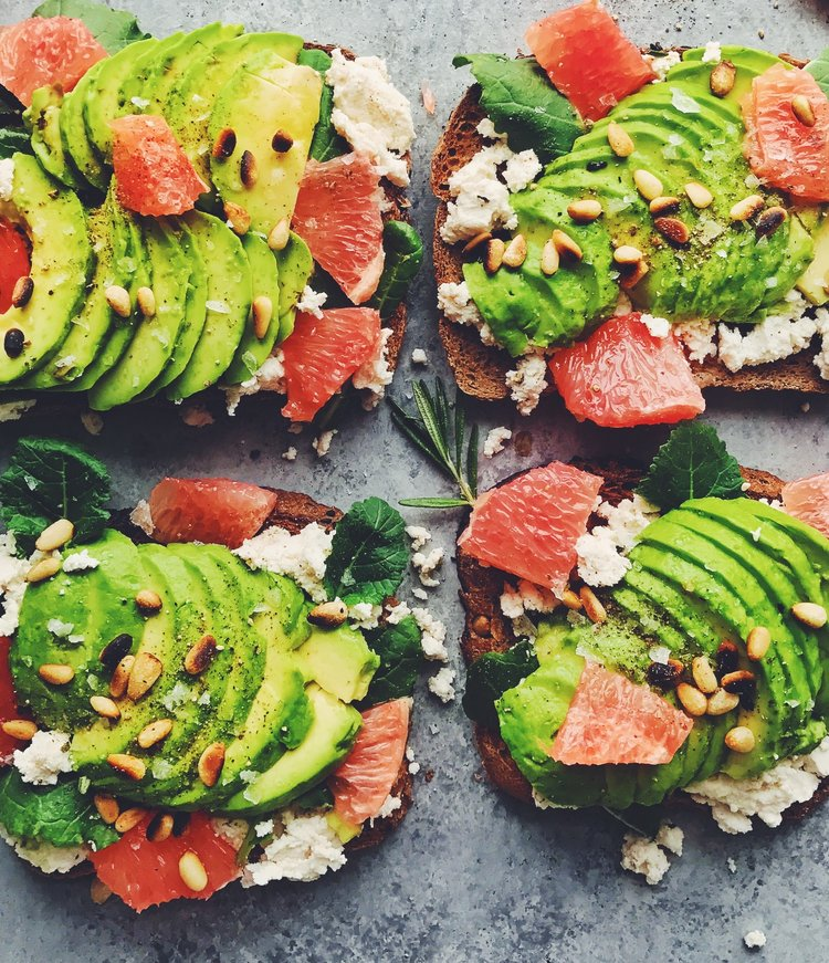 Fall and Winter Avocado Toast Recipes - Avocado Toast with Grapefruit and Almond Milk Ricotta via Lee From America | https://www.roseclearfield.com