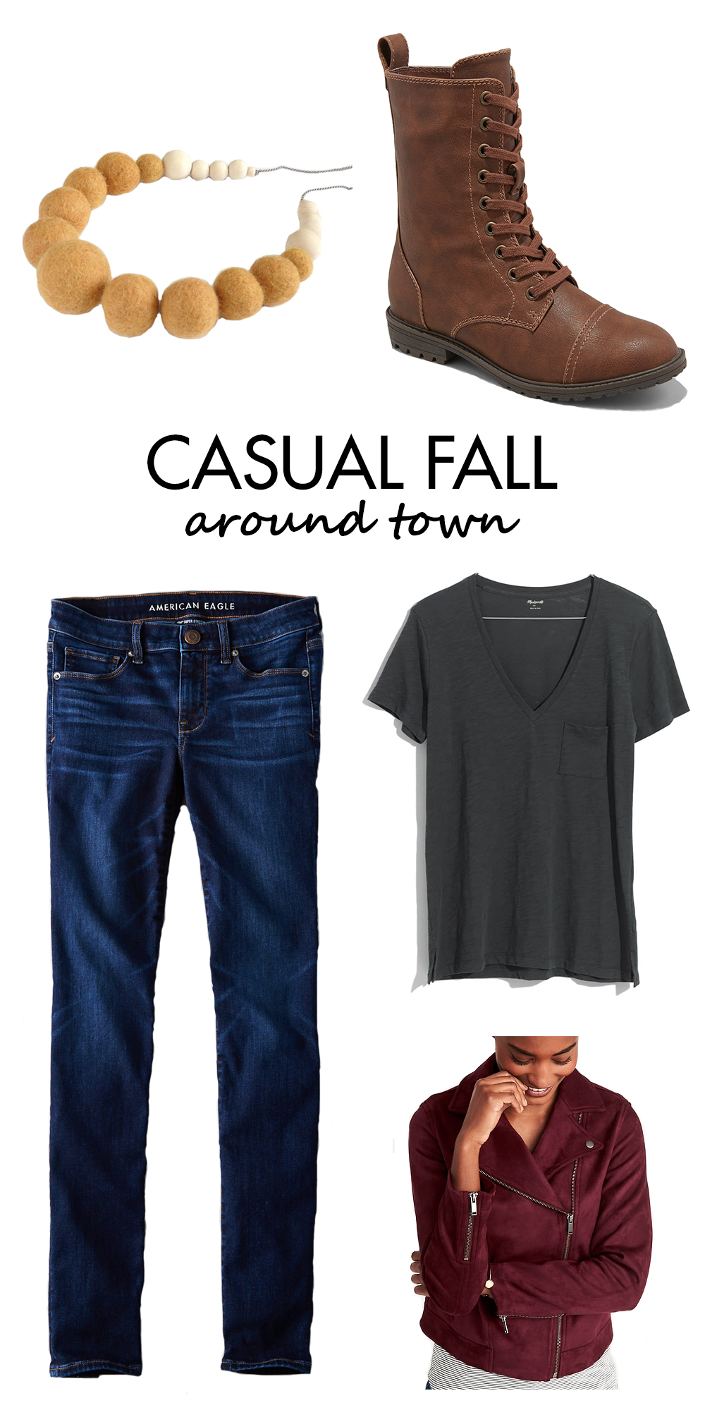 Casual Fall Outfits Inspiration - Around Town | https://www.roseclearfield.com