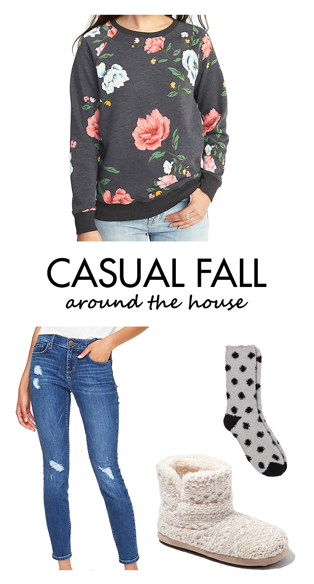 Casual Fall Outfits Inspiration - Around the House | https://www.roseclearfield.com