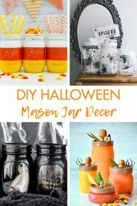 DIY Halloween Mason Jar Decor