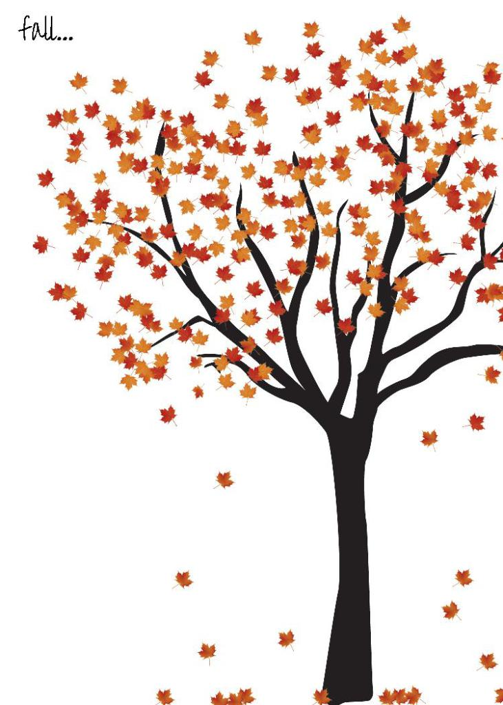 picture about Fall Tree Printable identified as Slide Tree Printable Evalily Rose Clearfield