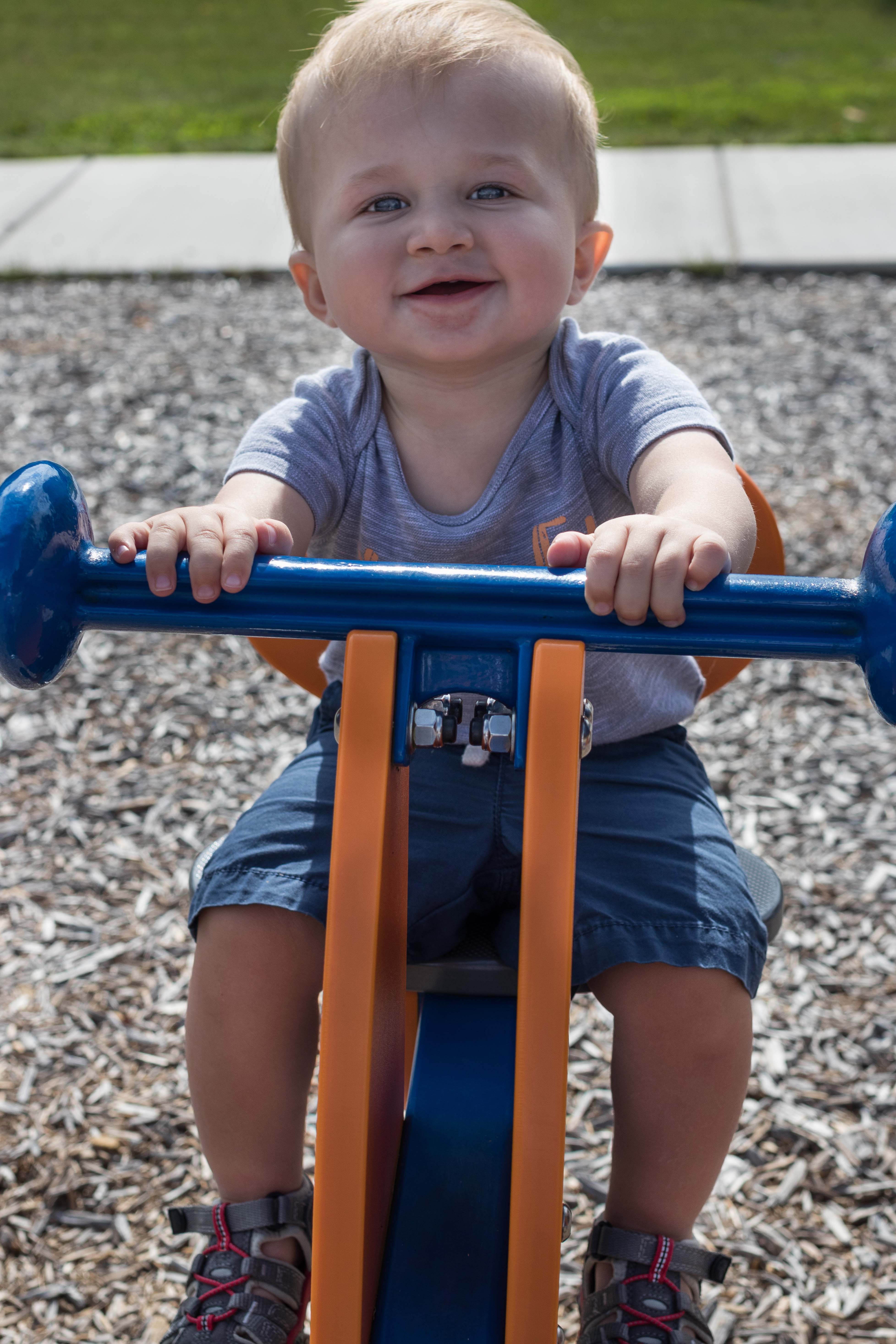 Tommy at the Playground Early October 2018 | https://www.roseclearfield.com
