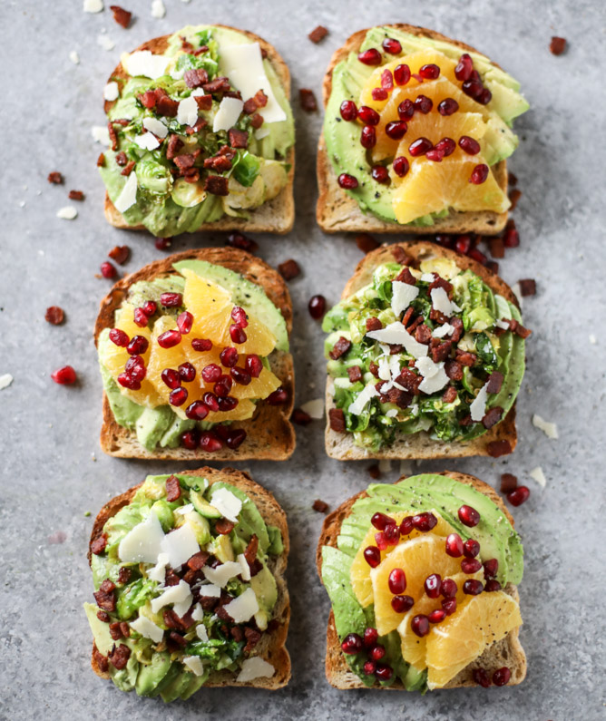 Fall and Winter Avocado Toast Recipes - Winter Avocado Toast Two Ways via How Sweet Eats | https://www.roseclearfield.com