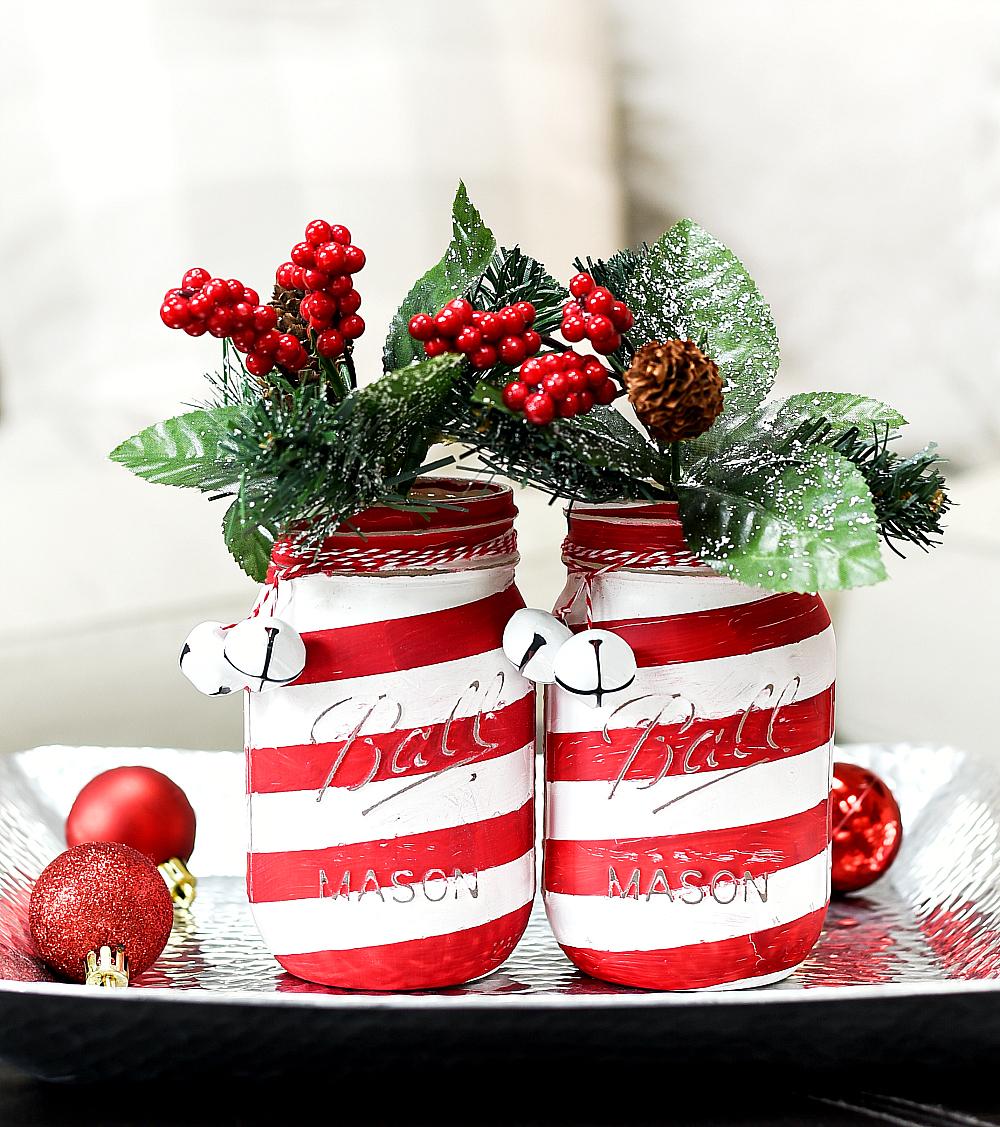 Diy Christmas Mason Jar Decor Rose Clearfield