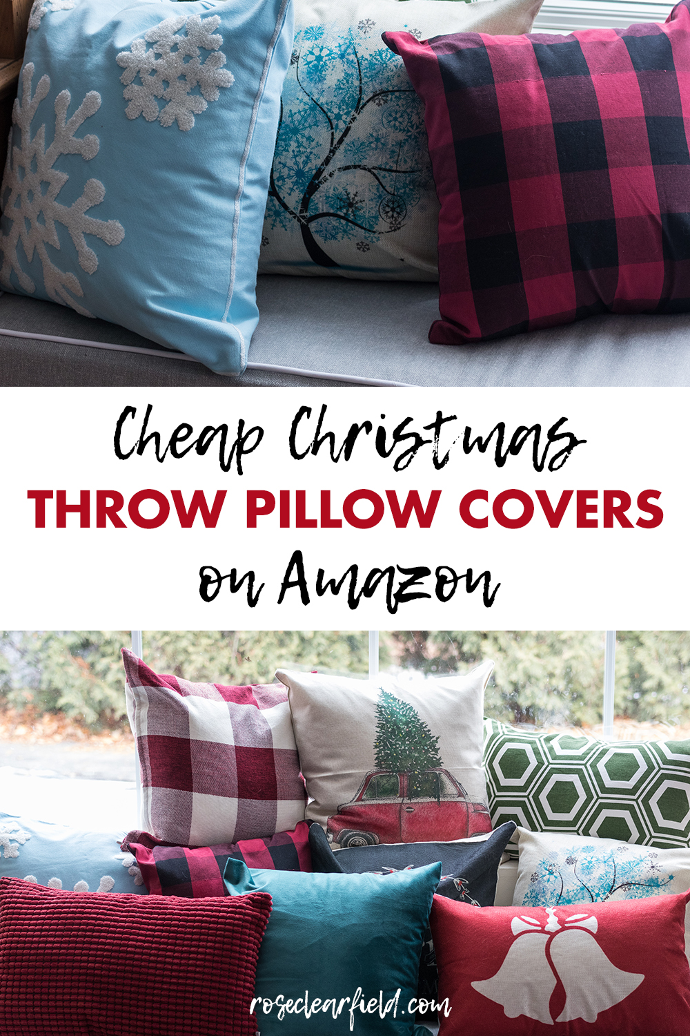 Cheap Christmas Throw Pillow Covers on Amazon 2 • Rose