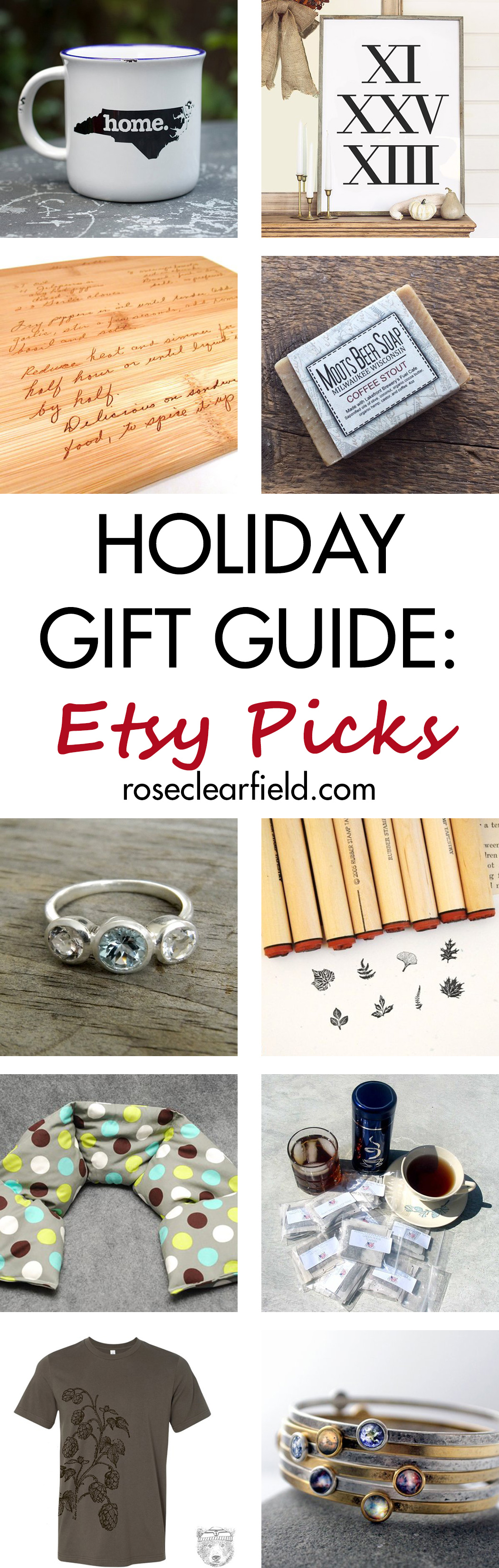 Holiday Gift Guide: Etsy Picks | https://www.roseclearfield.com