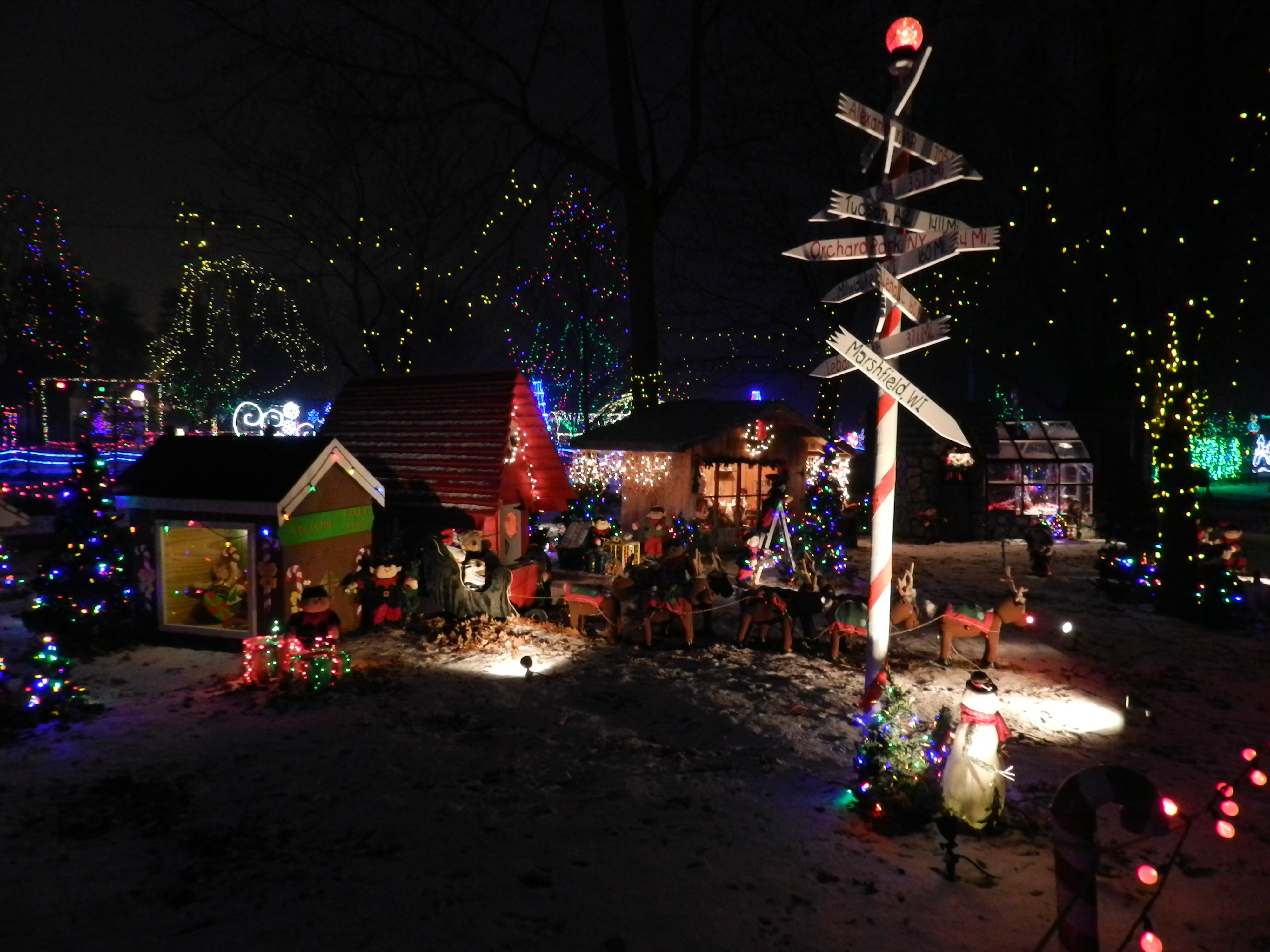 20 Creative Holiday Photo Ideas - Marshfield WI Lights Display via Discover Wisconsin | https://www.roseclearfield.com