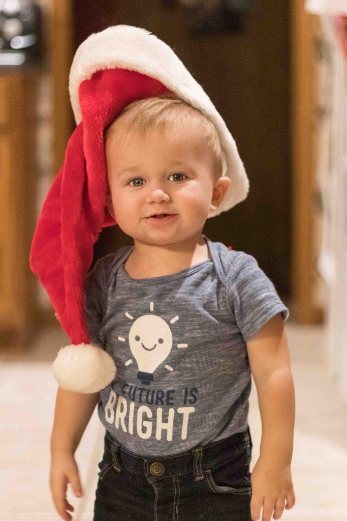 Tommy Wearing the Santa Hat November 2018 | https://www.roseclearfield.com