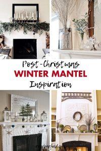 Post-Christmas Winter Mantel Inspiration