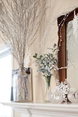 Post-Christmas Winter Mantel Inspiration - Winter Wonderland Mantel via Little House Became a Home | https://www.roseclearfield.com