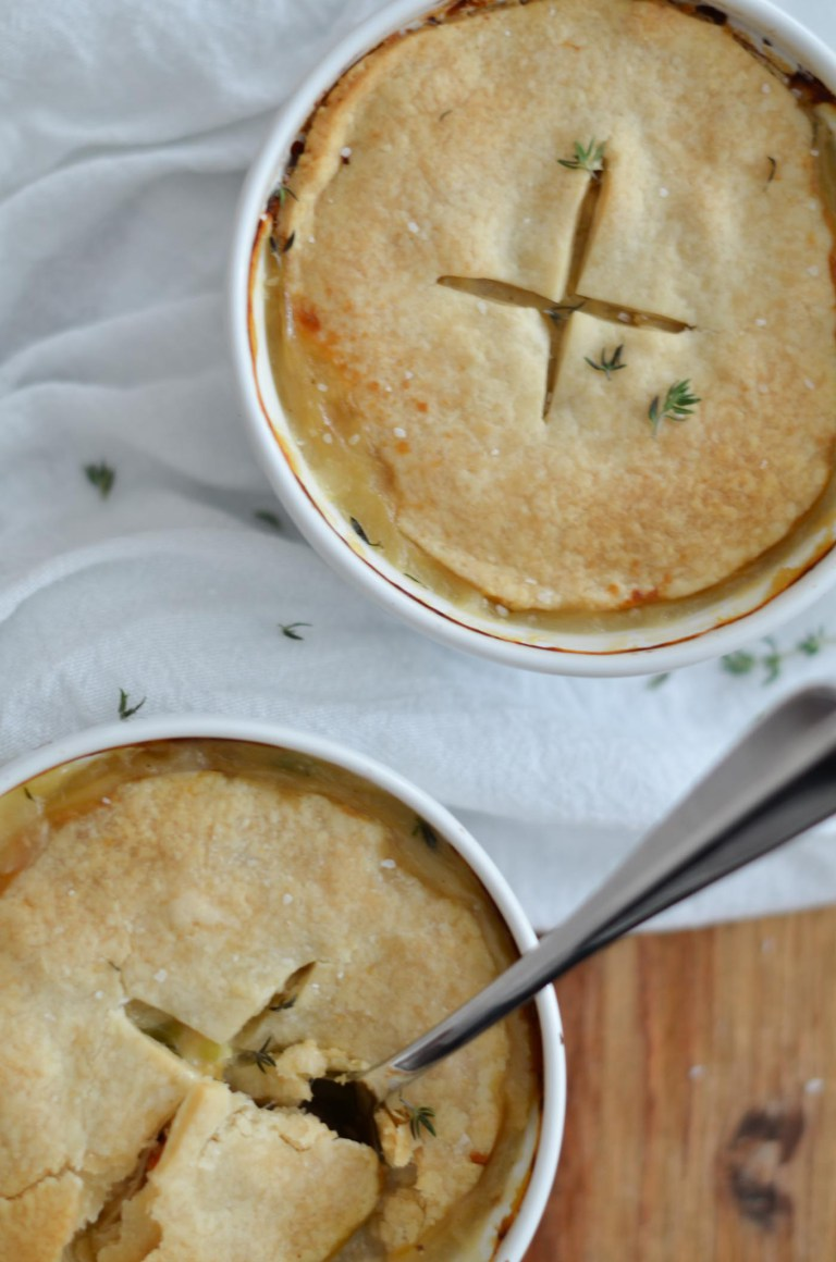 30 Healthy Dinner Recipes for Two - Chicken Pot Pie for Two via Jessica N Wood | https://www.roseclearfield.com