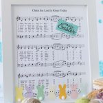 DIY Easter Sheet Music Wall Decor