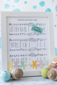 DIY Easter Sheet Music Wall Decor | https://www.roseclearfield.com