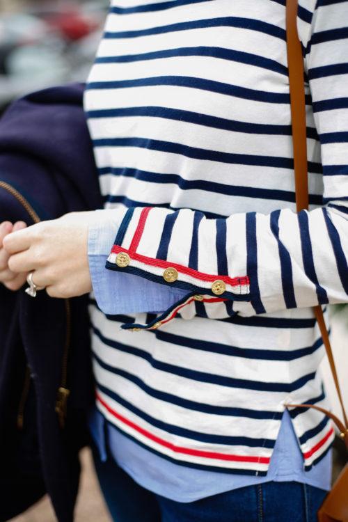 Stripes Inspiration - J. Crew Striped Shirt via Mackenzie Horan | https://www.roseclearfield.com