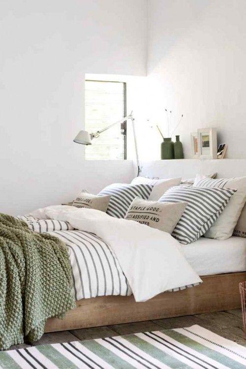 Stripes Inspiration - Striped Bedding and Rug via Grazia Magazine | https://www.roseclearfield.com