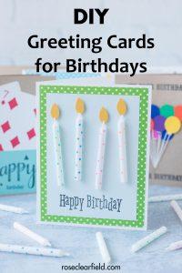 DIY Greeting Cards for Birthdays