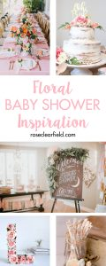 Floral baby shower inspiration to help you plan the perfect spring party for a mom-to-be! #babyshower #floralshower #showerinspiration