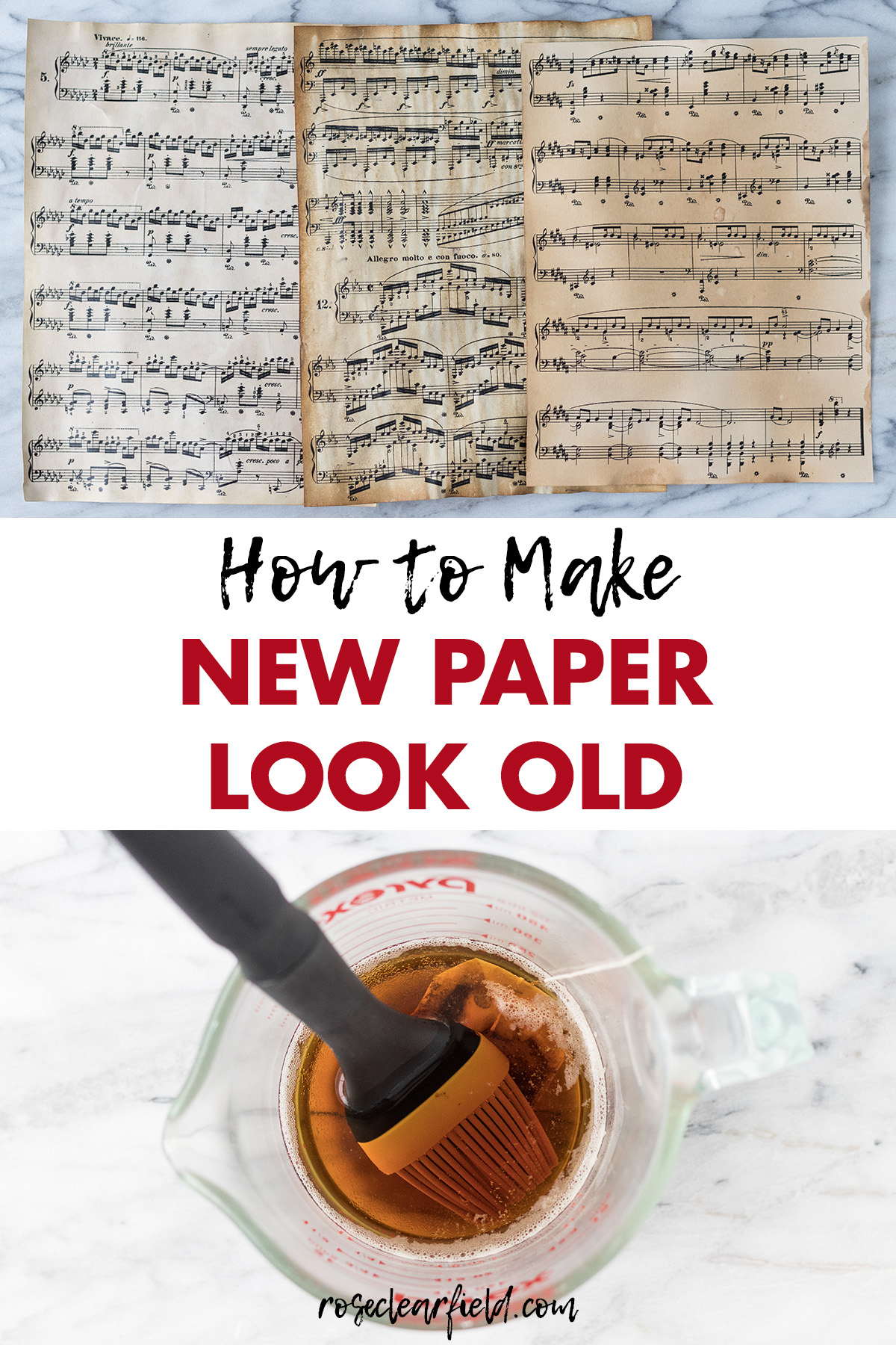 How to Make New Paper Look Old