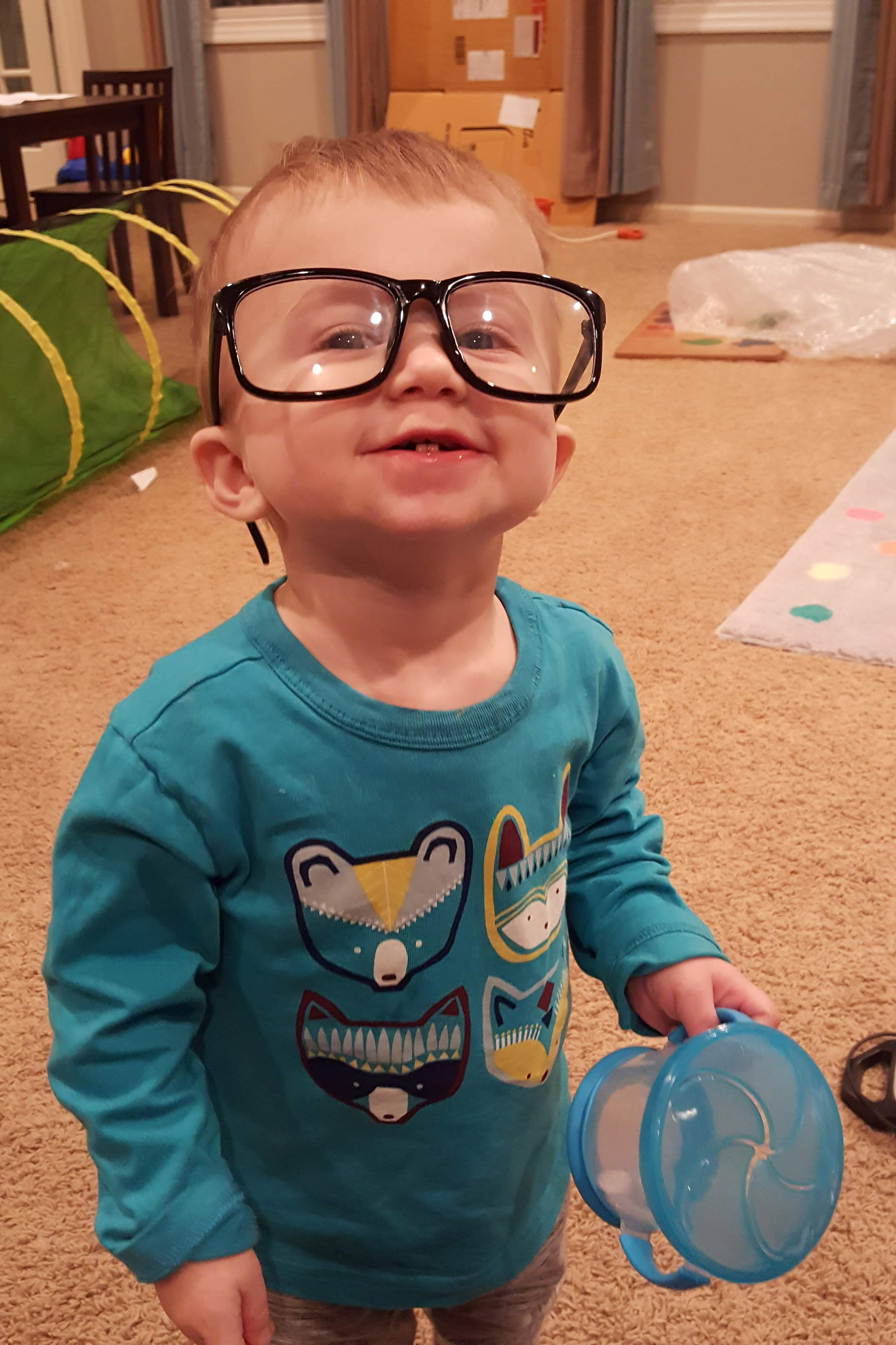 Tommy Wearing the Computer Glasses February 2019 | https://www.roseclearfield.com