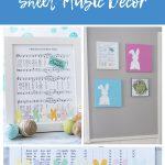 DIY Easter Sheet Music Wall Decor