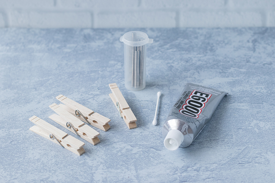 Neodymium magnets are ideal for DIY clothespin magnets. I adhere them with E-6000. #DIY #clothespins #magnets   https://www.roseclearfield.com