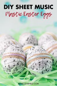DIY Sheet Music Plastic Easter Eggs