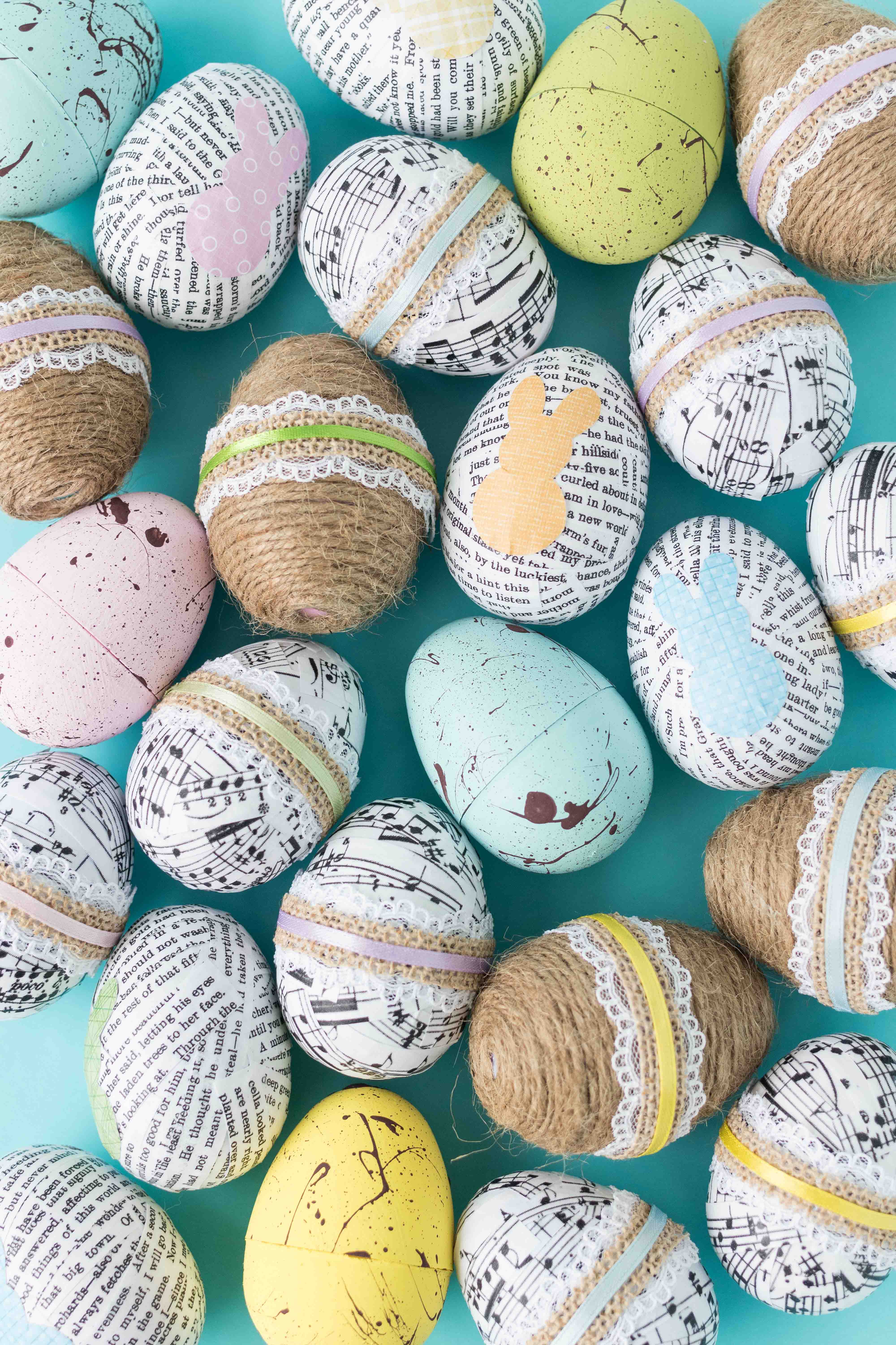 DIY plastic Easter eggs...simple, fun Easter decorations! | https://www.roseclearfield.com