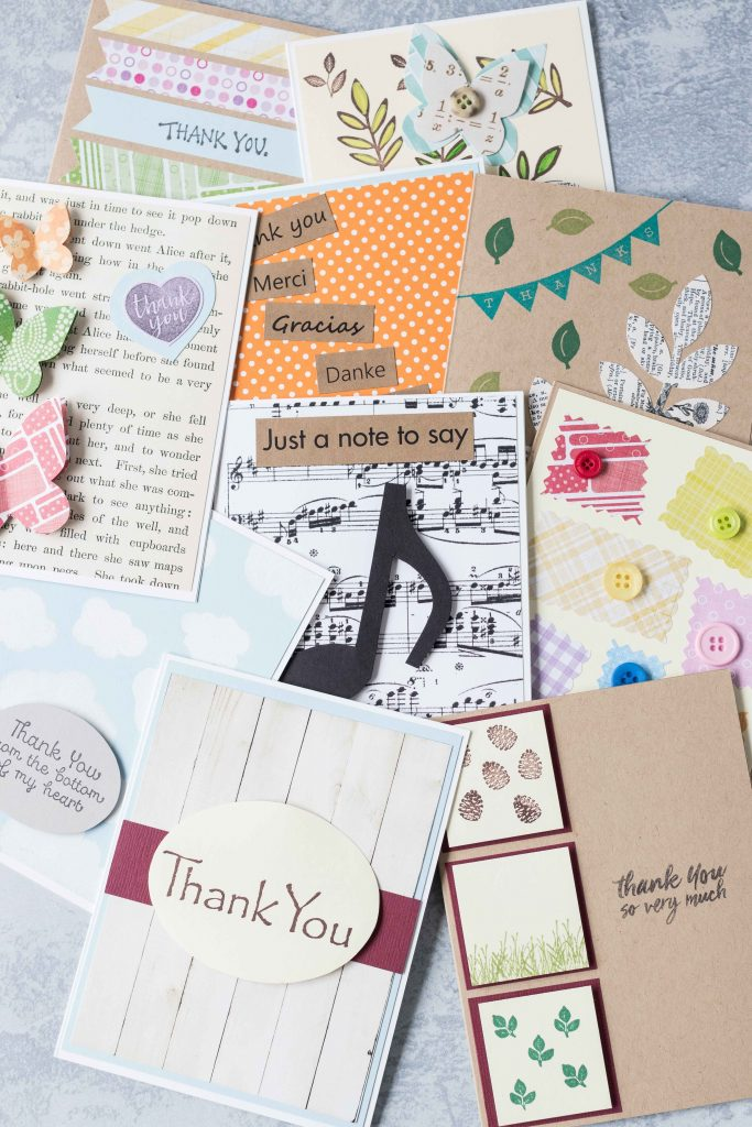 Simple DIY thank you cards add a meaningful touch to thank you notes and gifts! #thankyoucards #DIYcards #greetingcardinspiration | https://www.roseclearfield.com