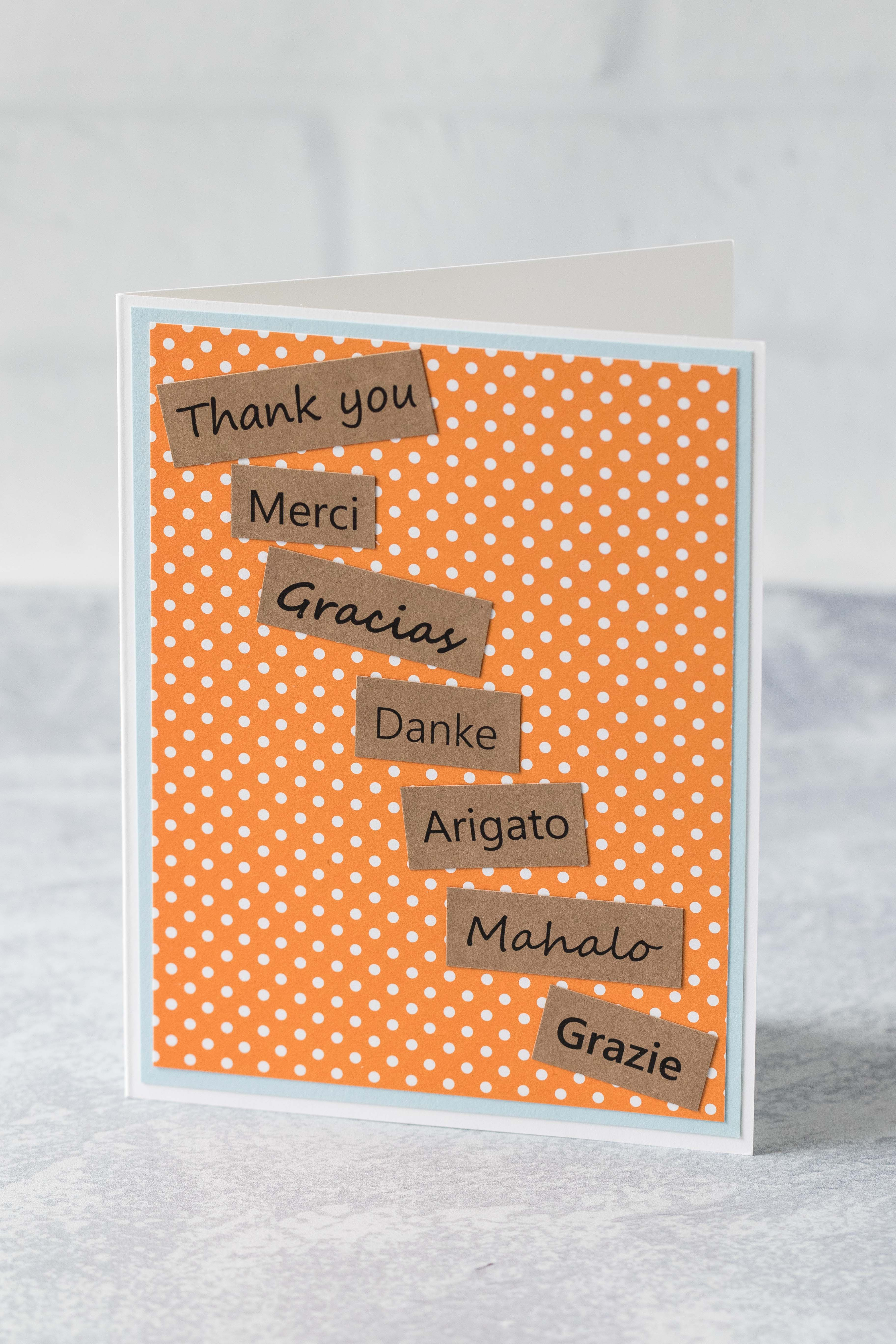 Thank you in multiple languages greeting card. #thankyoucard #greetingcard #greetingcardinspiration | https://www.roseclearfield.com