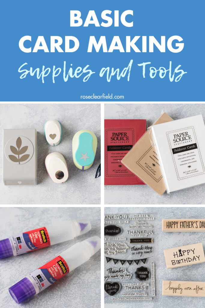 Basic Card Making Supplies and Tools